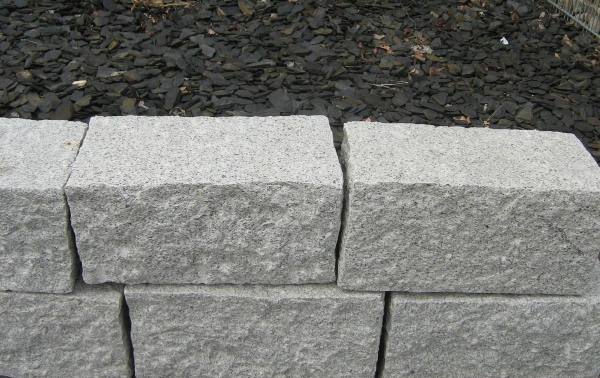 trockenmauersteine granit grau cantera naturstein welten. Black Bedroom Furniture Sets. Home Design Ideas